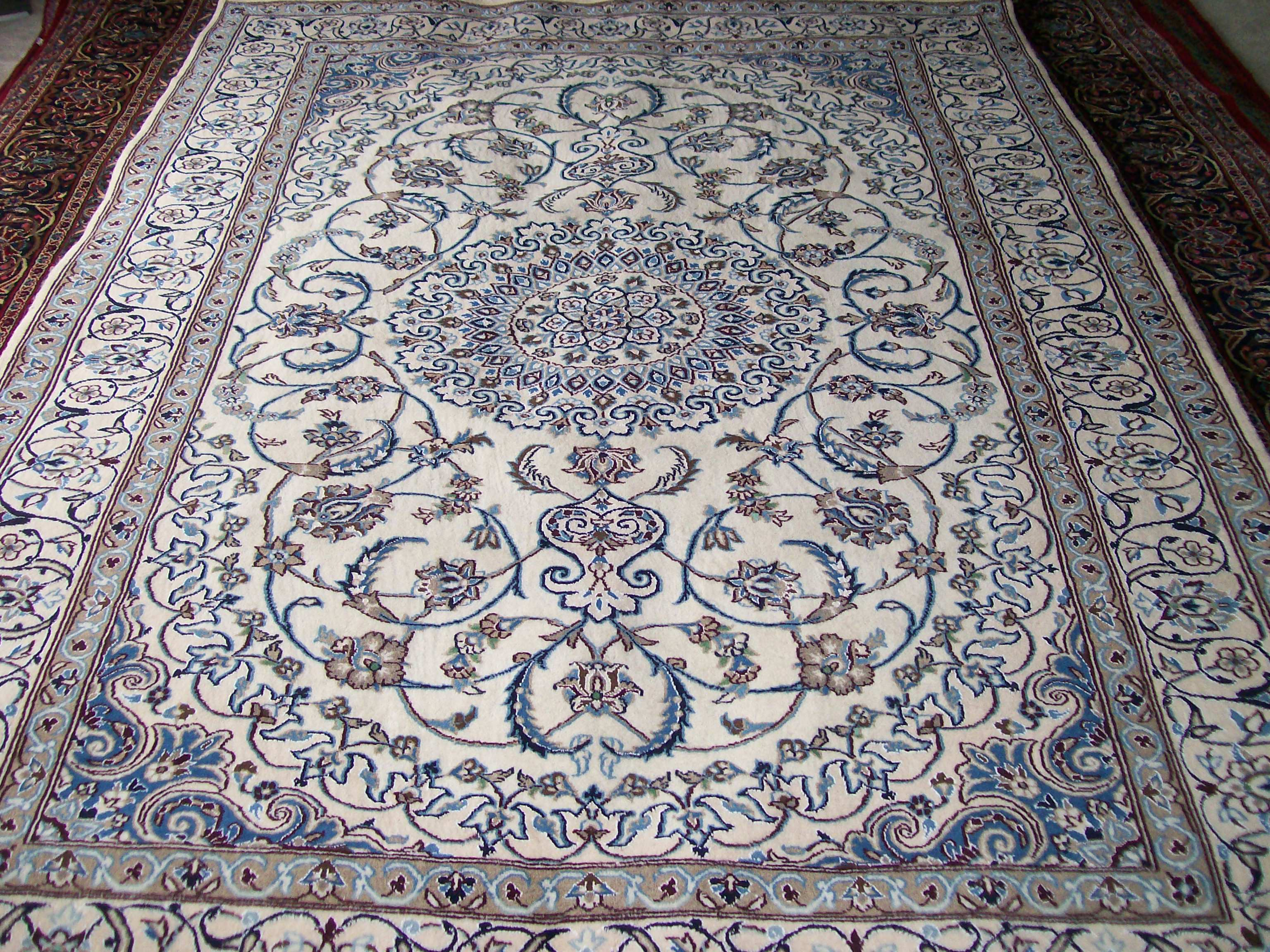nain rug nain teppich blau wei in 310x190 5120 17066 bei brand new persian hand knotted rugs. Black Bedroom Furniture Sets. Home Design Ideas
